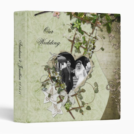Vintage Heart Photo Album 3 Ring Binder