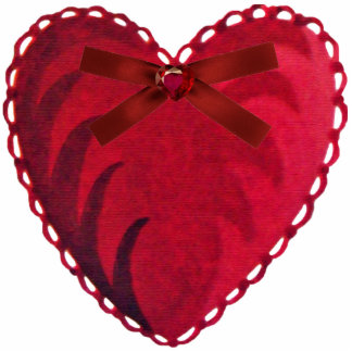 Vintage Heart Pin Statuette