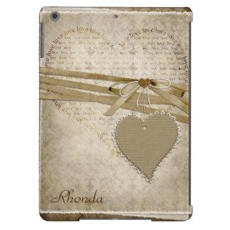 Vintage Heart Scrapbook Page iPad Air Case