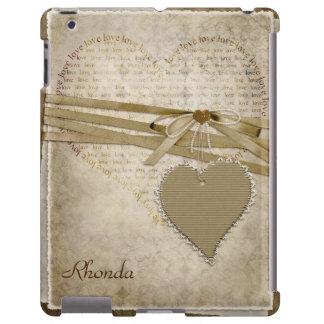 Vintage Heart Scrapbook Page iPad Case