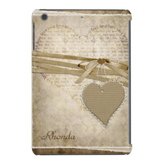 Vintage Heart Scrapbook Page iPad Mini Case