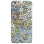 Vintage Heart Shaped Antique World Map Peter Apian Barely There iPhone 6 Plus Case