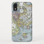 Vintage Heart Shaped Antique World Map Peter Apian iPhone XR Case
