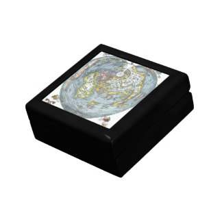 Vintage Heart Shaped Antique World Map Peter Apian Gift Box