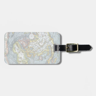 Vintage Heart Shaped Antique World Map Peter Apian Luggage Tag