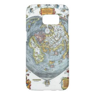Vintage Heart Shaped Antique World Map Peter Apian Samsung Galaxy S7 Case