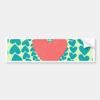 Vintage Heart Swirl Bumper Sticker