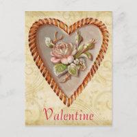 Vintage Heart Valentine Postcard