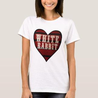 Vintage Heart White Rabbit T-Shirt