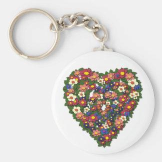Vintage Heart  Wreath Keychain