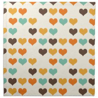 Vintage Hearts Colors Napkin