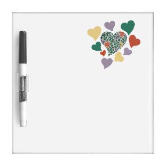 Vintage Hearts Dry-Erase Board