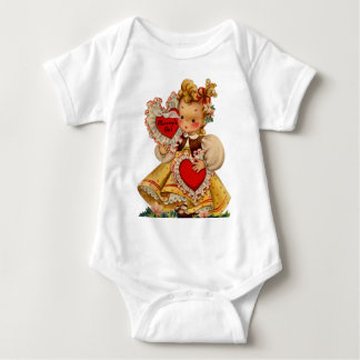 Vintage Hearts- Mommy's Girl Baby Bodysuit