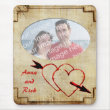 Vintage Hearts Photo Frame Mousepad mousepad