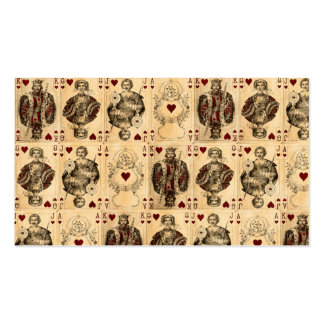 Vintage Hearts Playing Cards Queen King Jack Ace