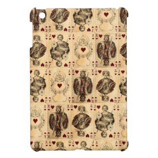 Vintage Hearts Playing Cards Queen King Jack Ace iPad Mini Cases