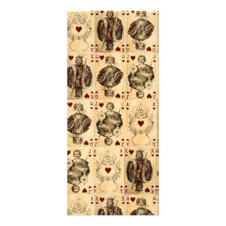 Vintage Hearts Playing Cards Queen King Jack Ace Customized Rack Card