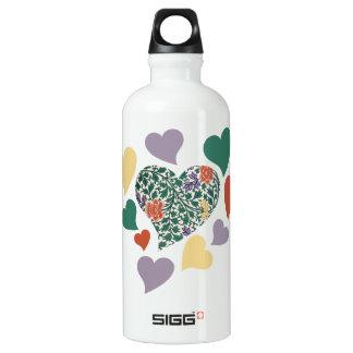 Vintage Hearts SIGG Traveler 0.6L Water Bottle