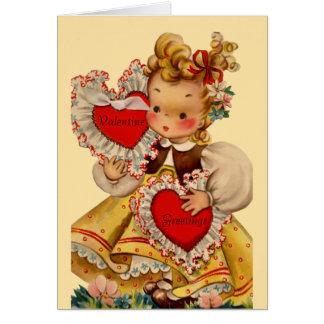Vintage Hearts Sweetheart Greeting Card