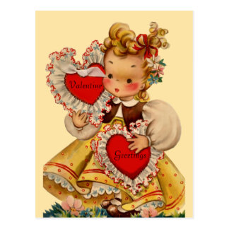 Vintage Hearts Sweetheart Postcard
