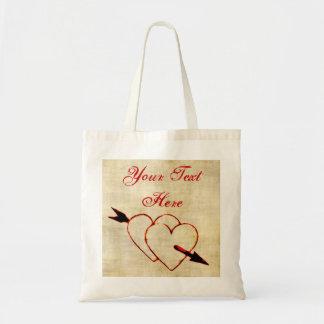 Vintage Hearts Tote Bag
