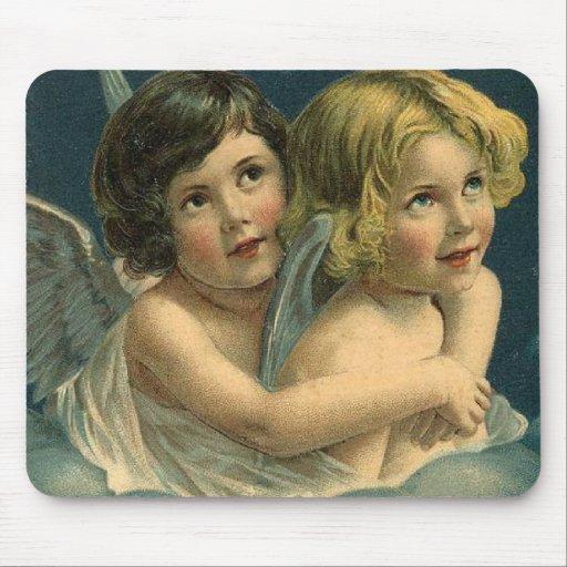 Vintage Heavenly Angels Mousepad