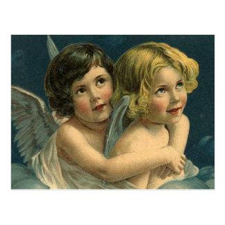 Vintage Heavenly Angels Postcard