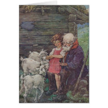 Vintage - Heidi and Grandfather with The Sheep,