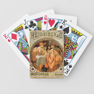 Vintage Heidsieck & Co Monopole Reims Wine Label Bicycle Playing Cards