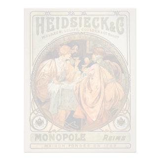 Vintage Heidsieck & Co Monopole Reims Wine Label Letterhead