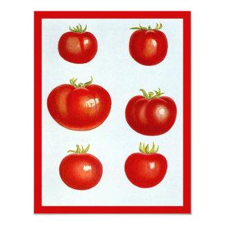 Vintage Heirloom Tomatoes Blank Invitations Garden