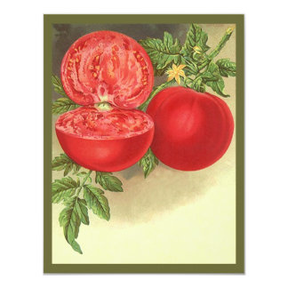 Vintage Heirloom Tomatoes Blank Invitations Garden