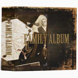 Vintage Heirlooms & Photographs Family Album Binder