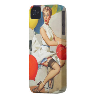 Vintage helium Party balloons Elvgren Pin up Girl Case-Mate iPhone 4 Case