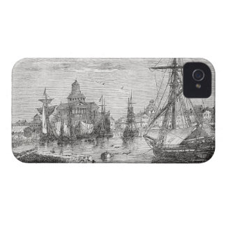 Vintage Helsinki Harbor 1830 Finland iPhone 4/4S iPhone 4 Case-Mate Case