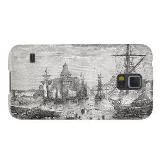 Vintage Helsinki Harbor 1830 Samsung Galaxy Nexus Galaxy S5 Covers