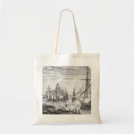 Vintage Helsinki Harbor Finland Canvas Tote Bag bag