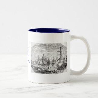 Vintage Helsinki Harbor Finland Print on Mug