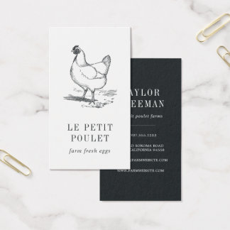 Vintage Hen | Farm Business Card