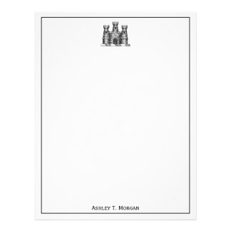 Vintage Heraldic Castle Emblem Coat of Arms TnF Letterhead
