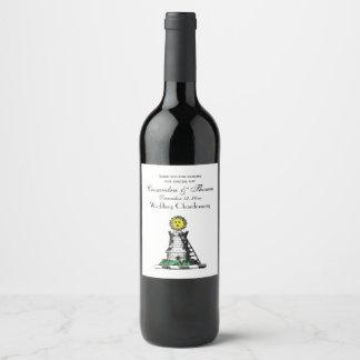 Vintage Heraldic Medieval Castle Emblem Crest Wine Label