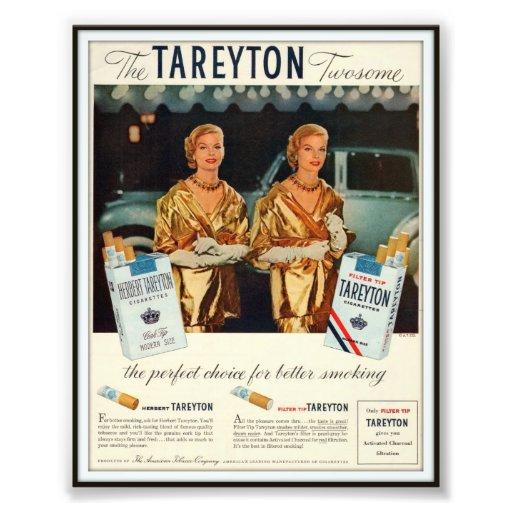 Vintage Herberto Tareyton que hace publicidad de 1 Fotografías