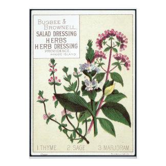 Vintage herbs Art Card