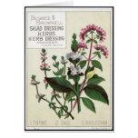 Vintage herbs Art Greeting Cards