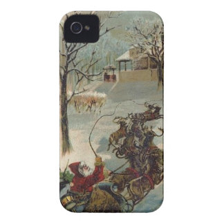Vintage Here Comes Santa Claus iPhone 4 Covers