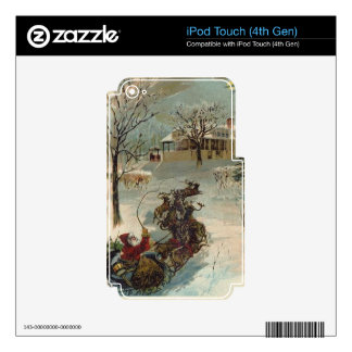 Vintage Here Comes Santa Claus iPod Touch 4G Skin