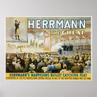 Vintage Herermann el gran poster mágico