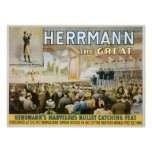 Vintage Herermann The Great Magic Poster