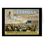 Vintage Herermann The Great Magic Poster Greeting Card