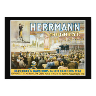 Vintage Herermann The Great Magic Poster Card